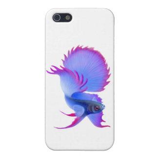 Caja azul del iPhone de los pescados de Betta que iPhone 5 Carcasa