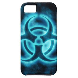 Caja azul del iPhone del Biohazard de Glo iPhone 5 Case-Mate Cobertura