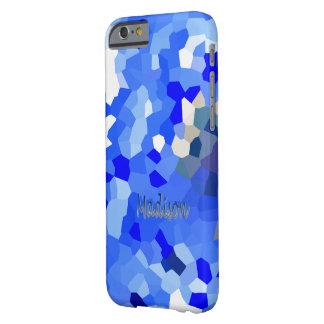 Caja azul del iPhone del diseño de Madison Funda Para iPhone 6 Barely There