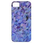 Caja azul del iPhone del Hydrangea