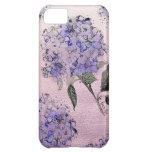 Caja azul del iPhone del Hydrangea de la acuarela