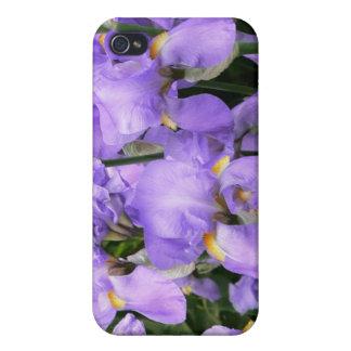 Caja azul del iPhone del iris del lavander púrpura iPhone 4 Funda