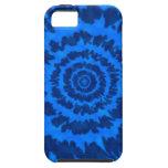 Caja azul del iPhone del teñido anudado iPhone 5 Cárcasas