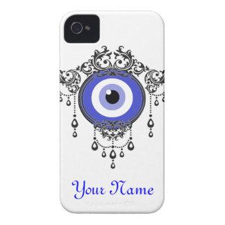 caja azul del mal de ojo del iPhone iPhone 4 Protector