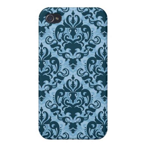 Caja azul del modelo iPhone 4 funda