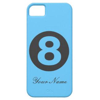Caja azul del número ocho iPhone 5 funda