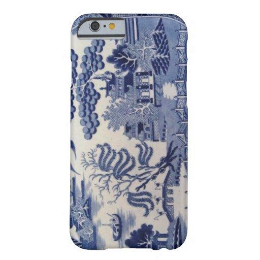Caja azul del siglo XIX tradicional de China del Funda De iPhone 6 Barely There
