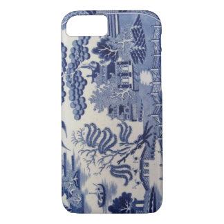 Caja azul del siglo XIX tradicional de China del Funda iPhone 7