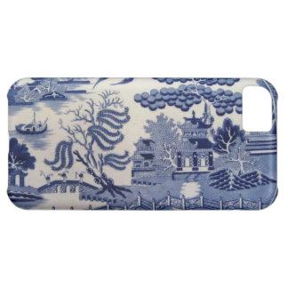Caja azul del siglo XIX tradicional de China del s