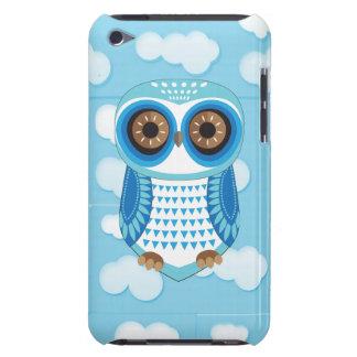 Caja azul del tacto de iPod de la nube del búho Barely There iPod Protectores