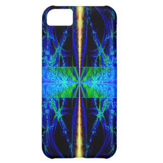 Caja azul del teléfono 5 del arte i del fractal
