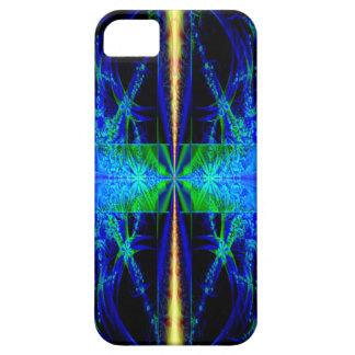 Caja azul del teléfono 5 del arte i del fractal iPhone 5 Case-Mate cárcasa