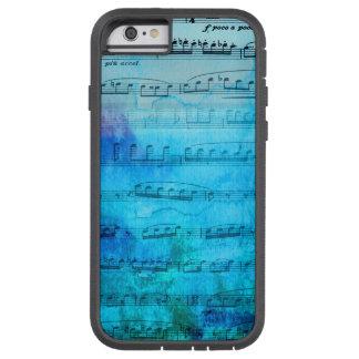 Caja azul del teléfono de la acuarela de la música funda para  iPhone 6 tough xtreme