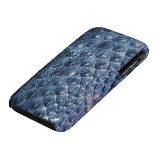 Caja azul del teléfono de la fauna de la serpiente iPhone 3 protectores