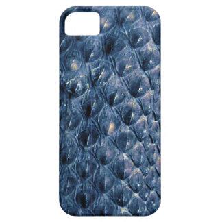 Caja azul del teléfono de la fauna de la serpiente iPhone 5 carcasas