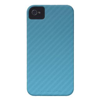 caja azul del teléfono de la zarzamora del stripey iPhone 4 coberturas