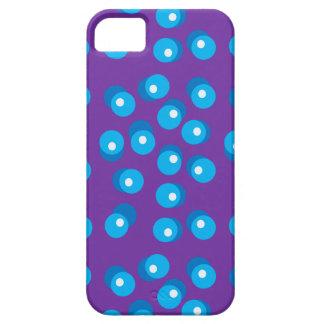 Caja azul del teléfono de los puntos iPhone 5 funda