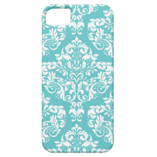 Caja azul del teléfono del damasco del huevo del p iPhone 5 Case-Mate cobertura