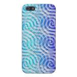 Caja azul del teléfono del diseño I de los espiral iPhone 5 Coberturas