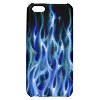 caja azul del teléfono del fuego