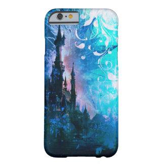 Caja azul del teléfono del Grunge del castillo de Funda Barely There iPhone 6