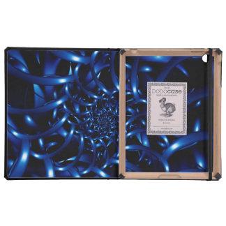 Caja azul eléctrica del iPad de DODOcase iPad Carcasa