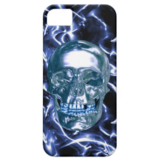 Caja azul eléctrica del iPhone 5 del cráneo del iPhone 5 Fundas