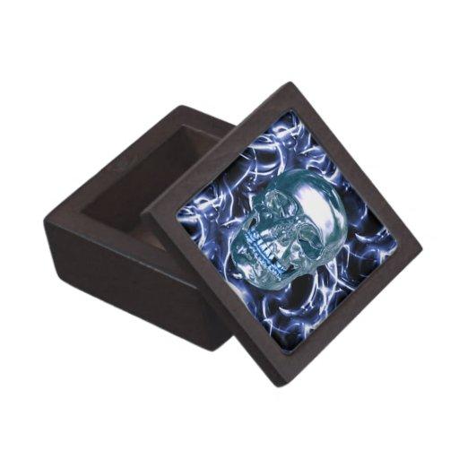 Caja azul eléctrica del recuerdo del cráneo del cajas de regalo de calidad
