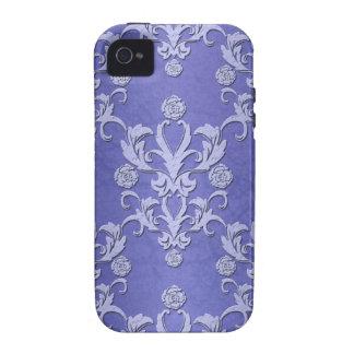 Caja azul femenina del iPhone del damasco Case-Mate iPhone 4 Carcasas