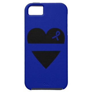 Caja azul fina del iPhone 5 del corazón Funda Para iPhone SE/5/5s