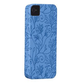 Caja azul floral elegante del iPhone 4/4S Case-Mate iPhone 4 Cobertura