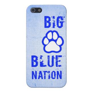 Caja azul grande del iPhone del equipo de deportes iPhone 5 Protector