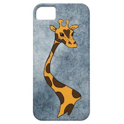 Caja Azul-Gris del iPhone 5/5S del ~ de la jirafa iPhone 5 Funda