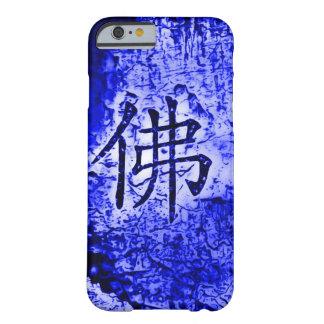 Caja azul interna china del arte del Grunge del Funda De iPhone 6 Barely There