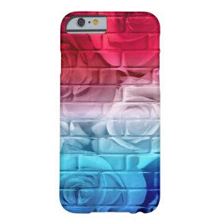 Caja Azul-iPhone blanca roja 6 de los rosas 11 del Funda Para iPhone 6 Barely There