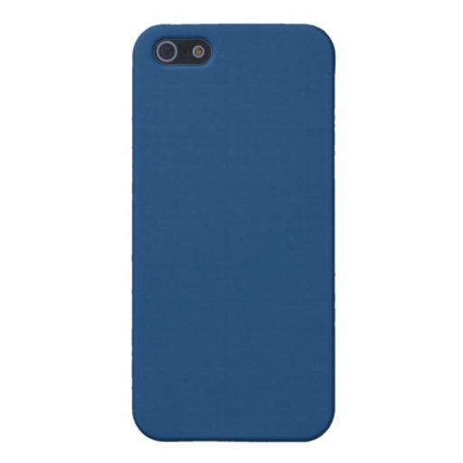 Caja azul llana del iPhone 5 de Mónaco iPhone 5 Funda