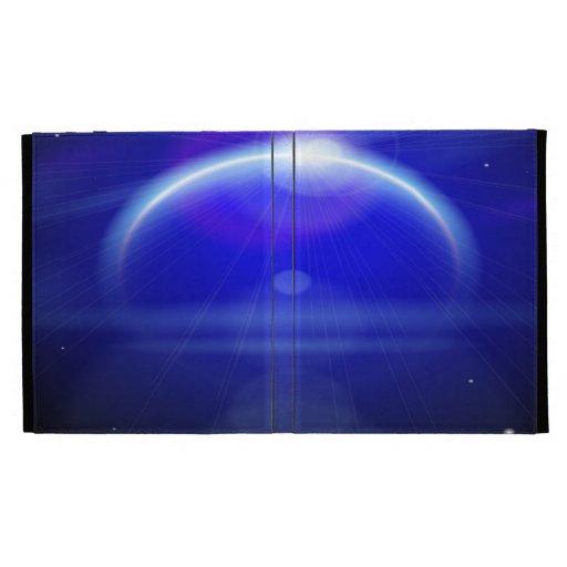 Caja azul marino del folio del iPad