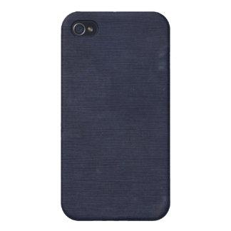 Caja azul marino tejida vintage del iPhone 4 de la iPhone 4 Funda
