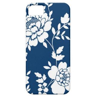 Caja azul marino y blanca del iPhone 5 del diseño  iPhone 5 Cárcasa