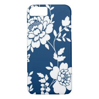 Caja azul marino y blanca del iPhone 7 del diseño Funda iPhone 7