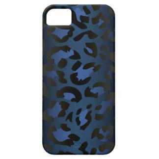 Caja azul metálica del iPhone 5 de la piel del leo iPhone 5 Case-Mate Protector