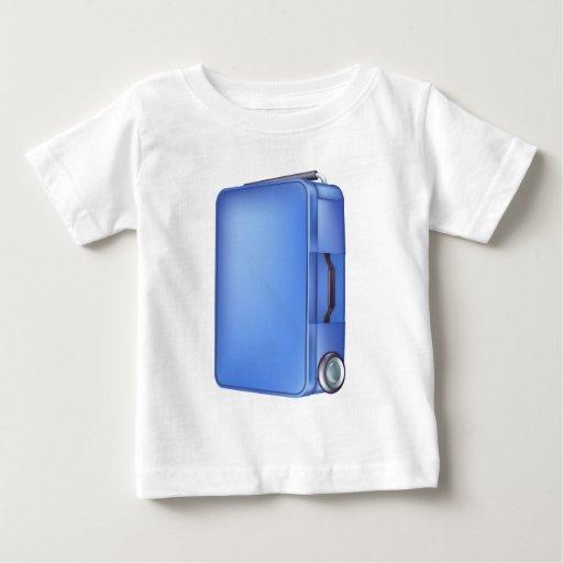 Caja azul moderna de la carretilla t-shirts