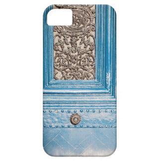 Caja azul parisiense del iPhone 5 de la puerta Funda Para iPhone 5 Barely There