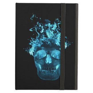 Caja azul personalizada del iPad del cráneo del