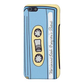 Caja azul personalizada del iPhone 4 de la cinta d iPhone 5 Fundas