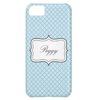 Caja azul personalizada del iPhone 5 del fondo del