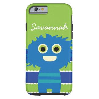 Caja azul personalizada linda del monstruo de la funda de iPhone 6 tough