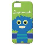 Caja azul personalizada linda del monstruo de la v iPhone 5 Case-Mate protectores