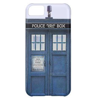 Caja azul pública del iPhone 5 de la caja de llama