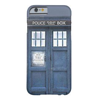 Caja azul pública del iPhone 6 de la caja de Funda Barely There iPhone 6